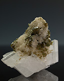 Green Uvite (Tourmaline) on Calcite Cluster