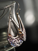 Hammered Stainless Steel Earrings