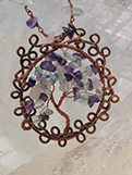 Copper & Stone Pendant Necklace