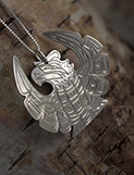Sterling Silver Thunderbird Pendant Necklace
