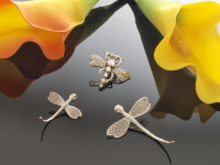 Sterling Silver Dragonfly Pendants