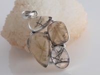 Rutilated & Tourmalinated Quartz Pendant