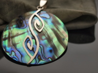 Paua Shell with Sterling Silver Pendant