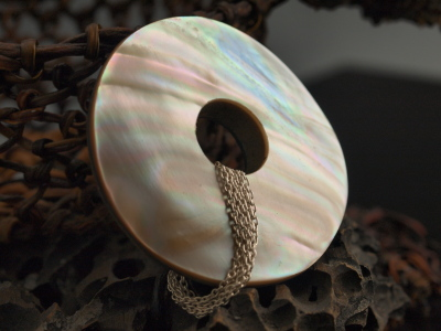 Reversible Paua & Mother of Pearl Shell Pendant