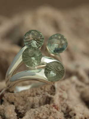 Prasiolite Ring in Sterling Silver