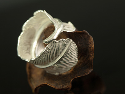 "Sterling Silver ""Feather"" Ring"